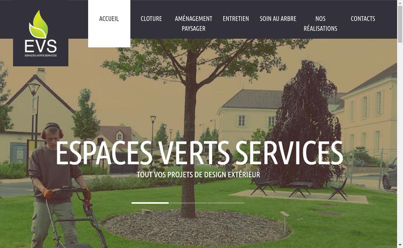 Site internet de Espaces Verts Services