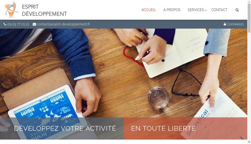 Capture d'écran du site de Esprit Developpement