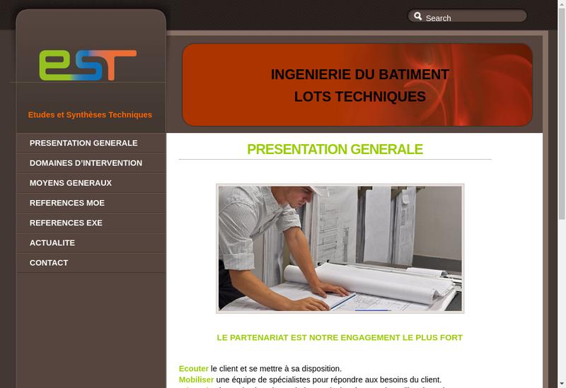 Capture d'écran du site de Etudes et Syntheses Techniques