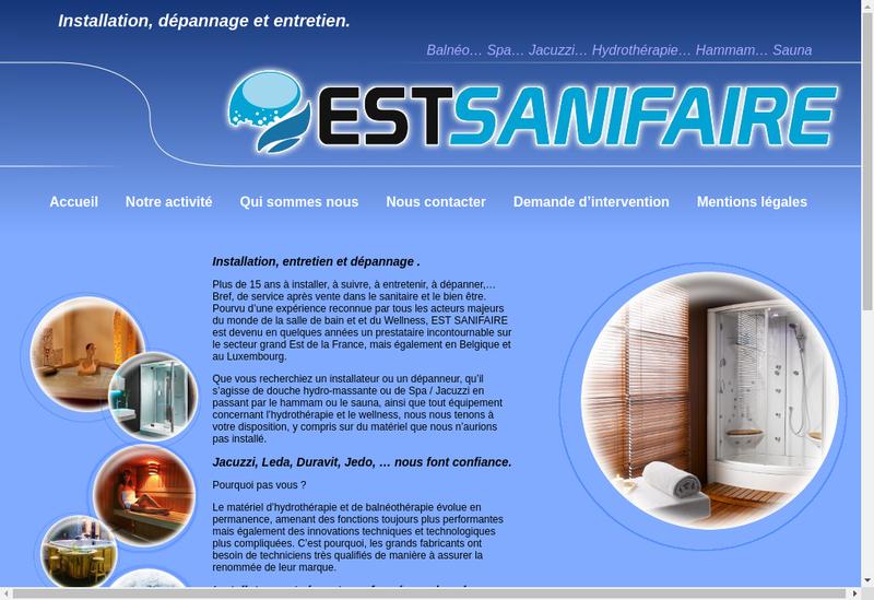 Capture d'écran du site de Est Sani Faire