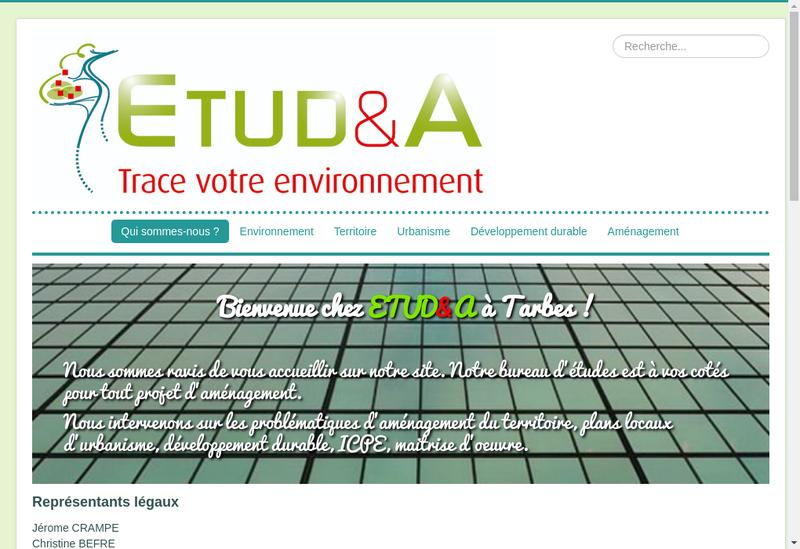 Capture d'écran du site de Etudea