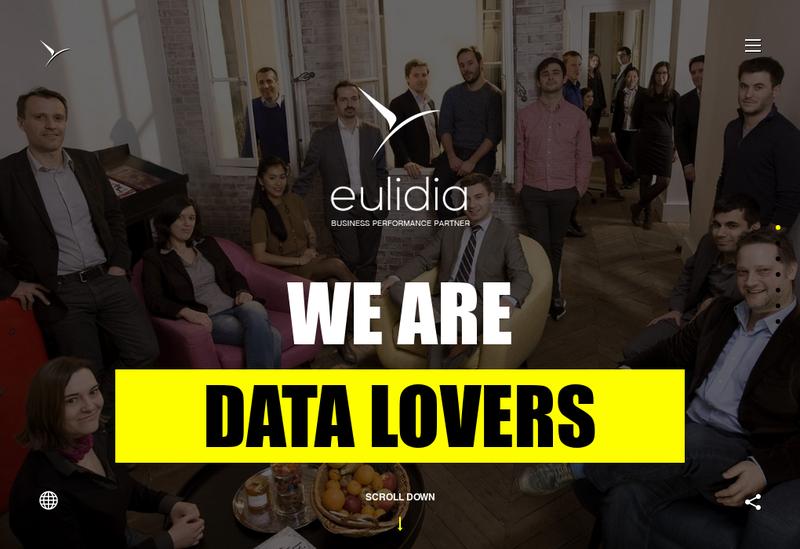 Capture d'écran du site de Eulidia