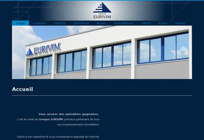 Capture d'écran du site de Groupe Eurivim
