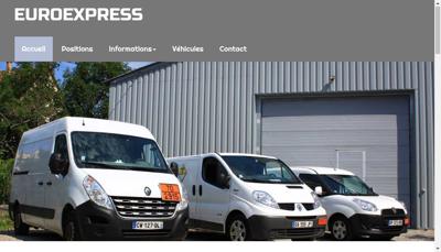 Capture d'écran du site de Euroexpress