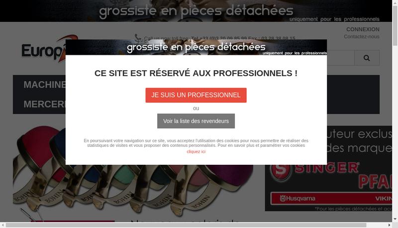 Capture d'écran du site de Europ Distri