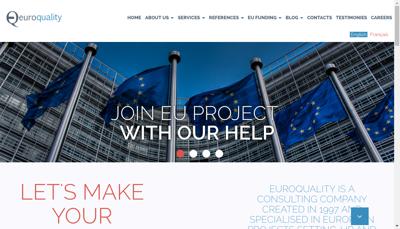 Capture d'écran du site de Euroquality