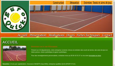 Capture d'écran du site de Euroquick