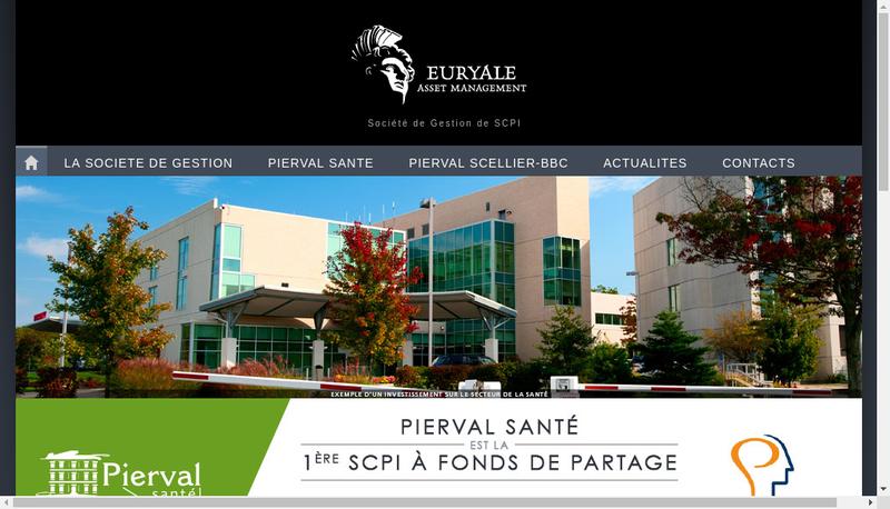 Capture d'écran du site de Euryale Asset Management