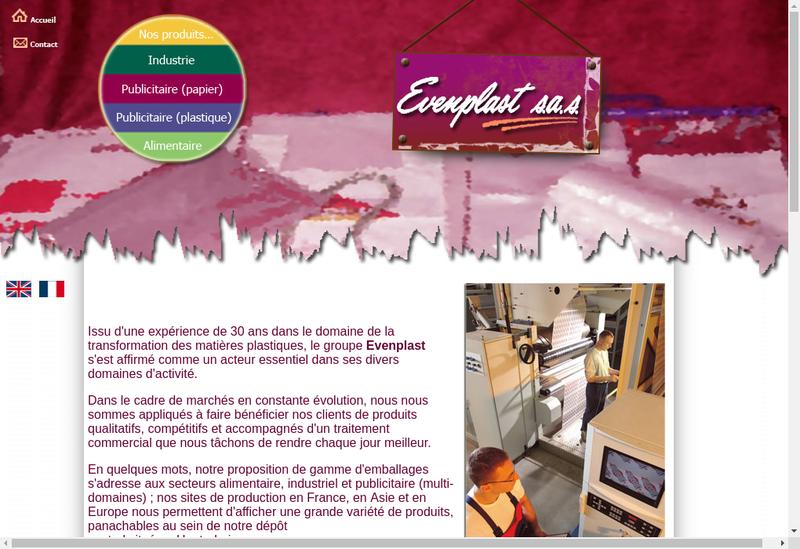 Capture d'écran du site de Evenplast