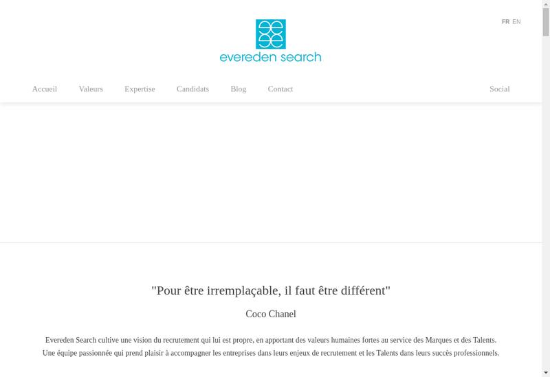 Capture d'écran du site de EVEREDEN SEARCH