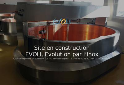 Capture d'écran du site de Evoli