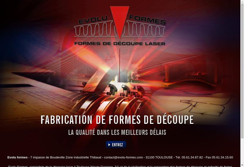 Capture d'écran du site de Evolu-Formes