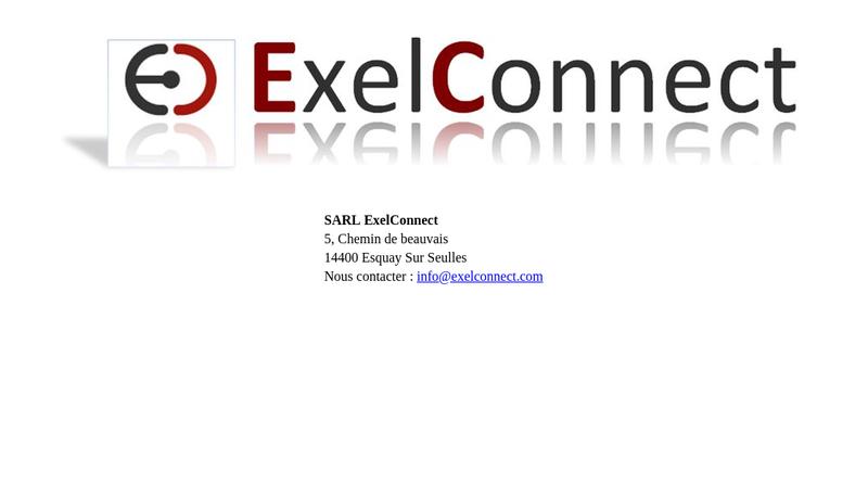 Capture d'écran du site de Exel Connect