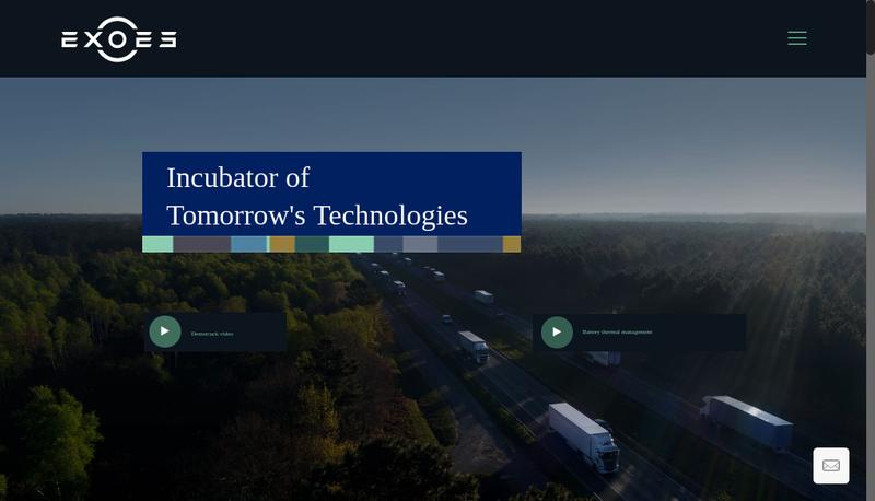 Capture d'écran du site de Exoes