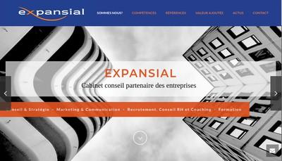 Site internet de Expansial Aquitaine