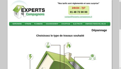Site internet de Experts Compagnons