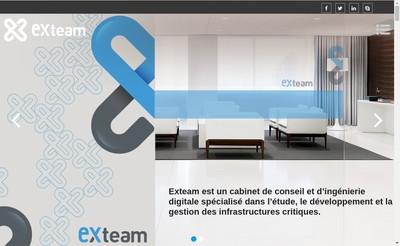 Site internet de Exteam
