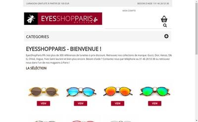 Site internet de Dms Optique