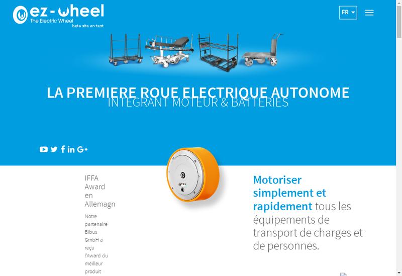 Capture d'écran du site de Ez Wheel