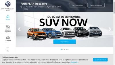 Site internet de Fair Play Trocadero