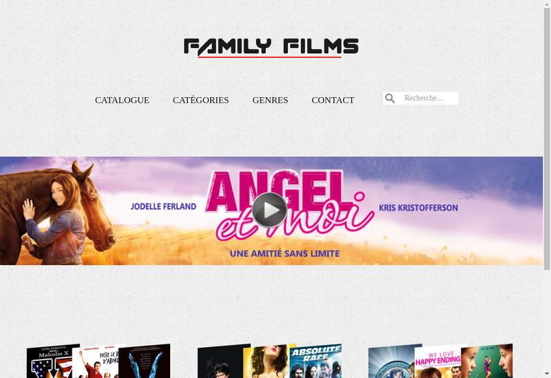 Capture d'écran du site de Family Films