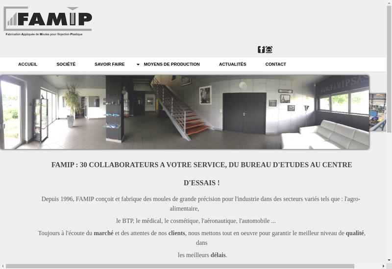 Capture d'écran du site de Famip