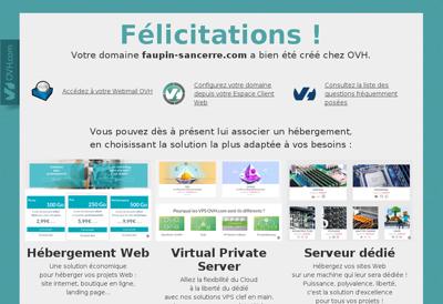 Capture d'écran du site de Faupin Sancerre
