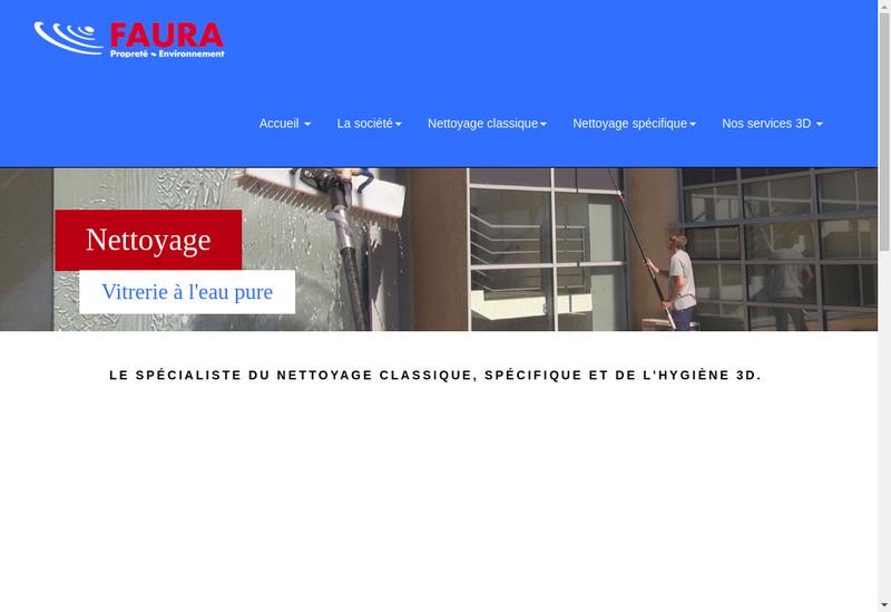 Capture d'écran du site de SARL Faura