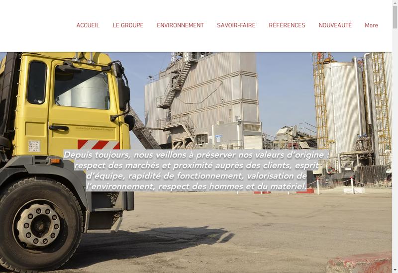 Capture d'écran du site de Fayolle Plaisance