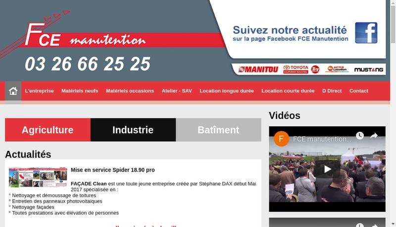 Capture d'écran du site de Societe Nouvelle Fce Tp