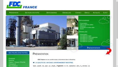 Capture d'écran du site de FDC