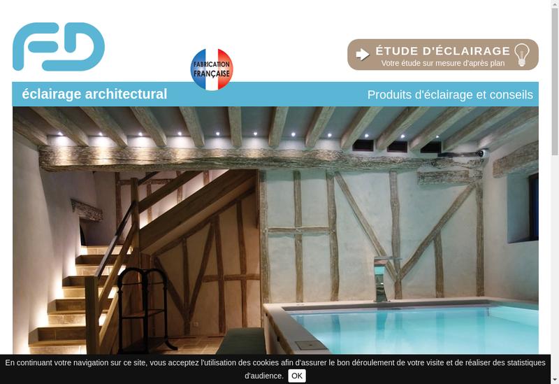 Capture d'écran du site de Fd Eclairage Architectural
