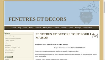 Site internet de SASU Fenetres et Decors Tout pour la Maison