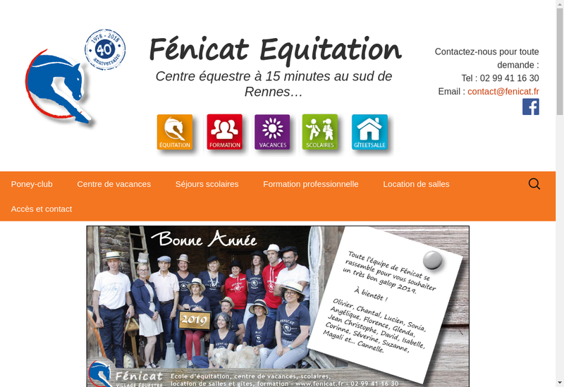 Capture d'écran du site de Fenicat