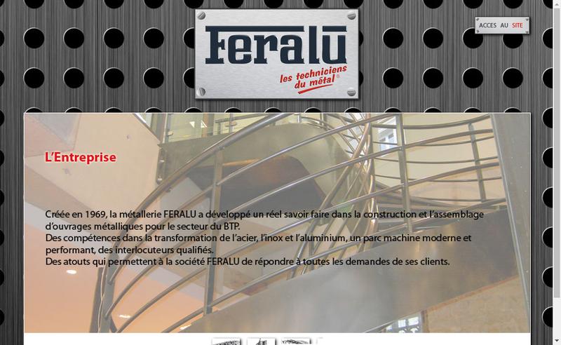 Capture d'écran du site de Feralu