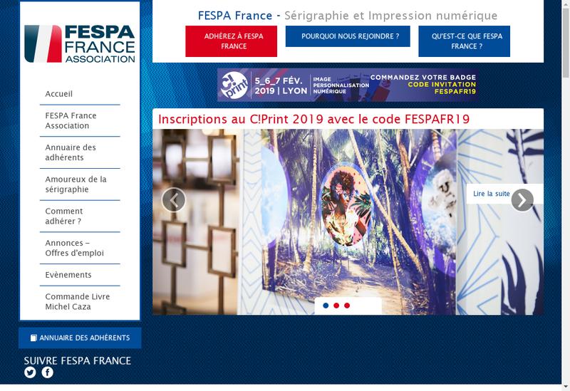 Capture d'écran du site de Gautier Serigraphie Numerique