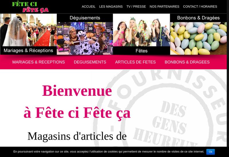 Capture d'écran du site de Fete Ci Fete à