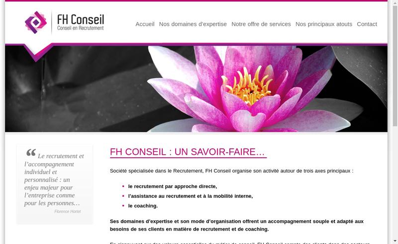 Site internet de Fh Conseils