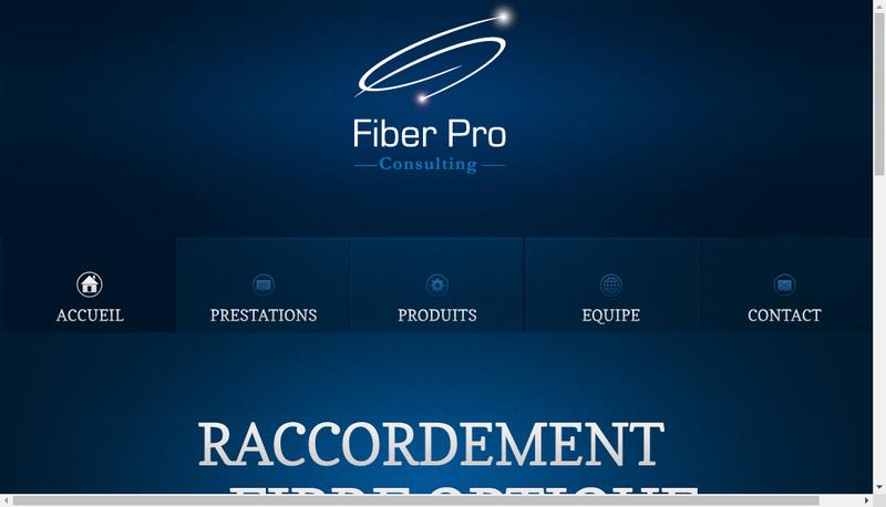 Capture d'écran du site de Fiber Pro Consulting