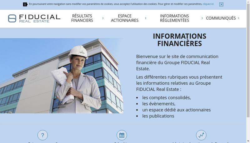 Capture d'écran du site de Solabel