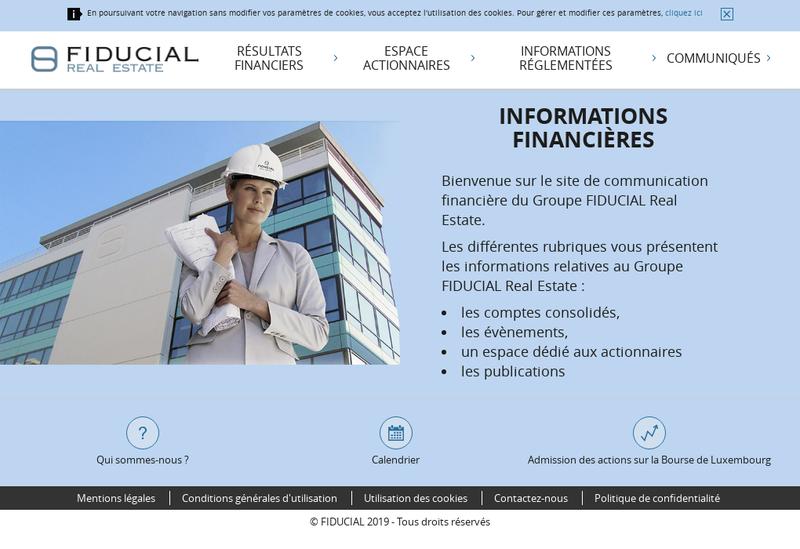 Capture d'écran du site de Fiducial Real Estate