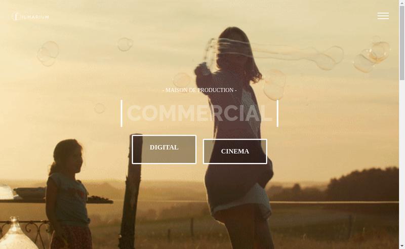 Capture d'écran du site de Filmarium Production