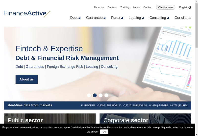 Capture d'écran du site de Finance Active