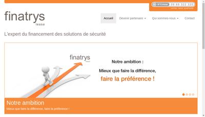 Capture d'écran du site de Finatrys