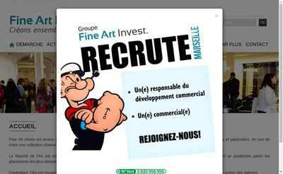 Site internet de FINE ART Invest