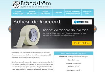 Capture d'écran du site de SARL Finetech