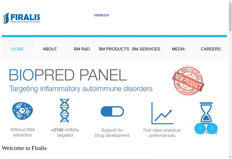 Capture d'écran du site de Firalis