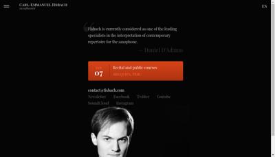 Capture d'écran du site de Fisbac