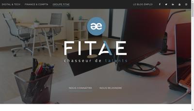 Capture d'écran du site de Fitae