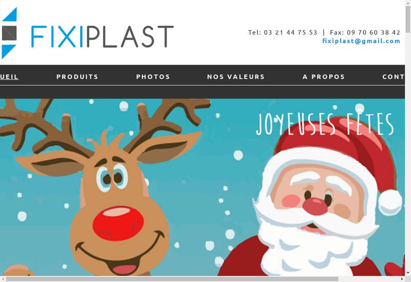 Capture d'écran du site de Fixiplast
